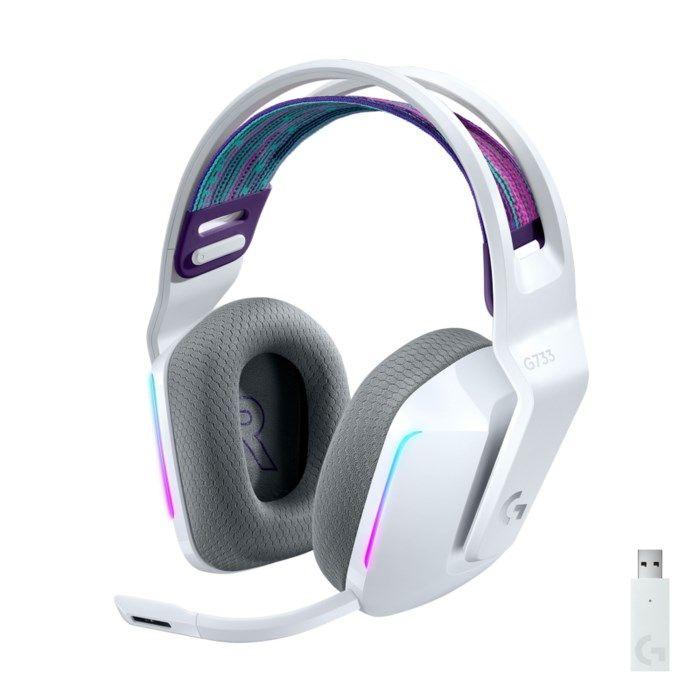Logitech G 733 Lightspeed Trådlöst gaming-headset Vit