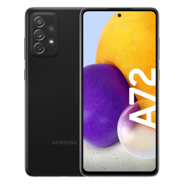 Samsung Galaxy A72 LTE Mobiltelefon 128 GB Svart