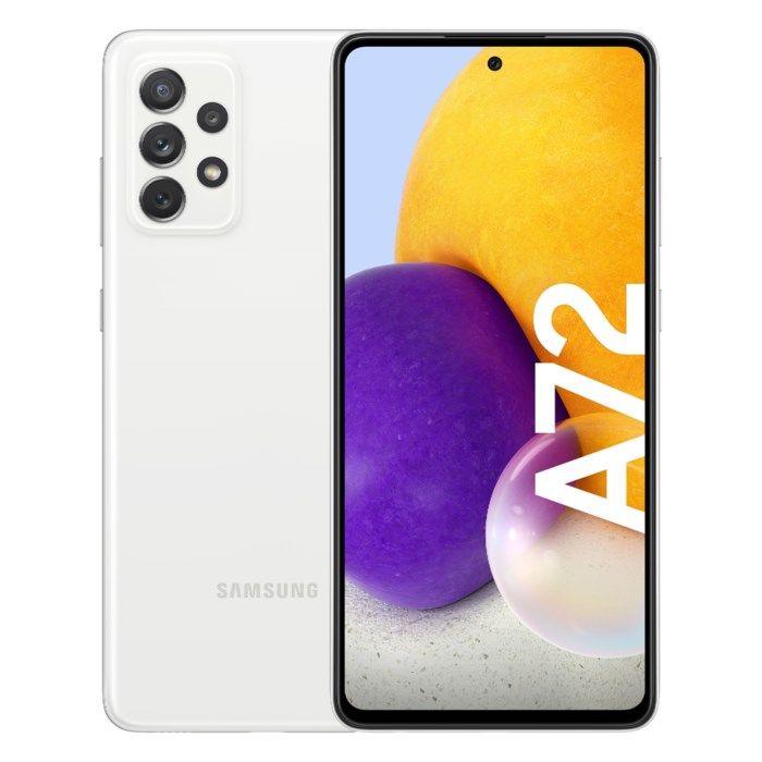 Samsung Galaxy A72 LTE Mobiltelefon 128 GB Vit