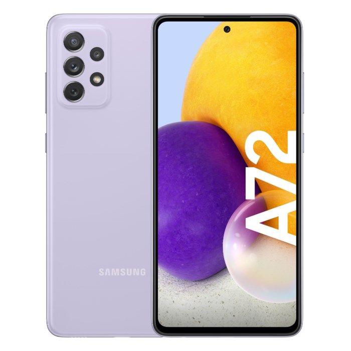Samsung Galaxy A72 LTE Mobiltelefon 128 GB Lila