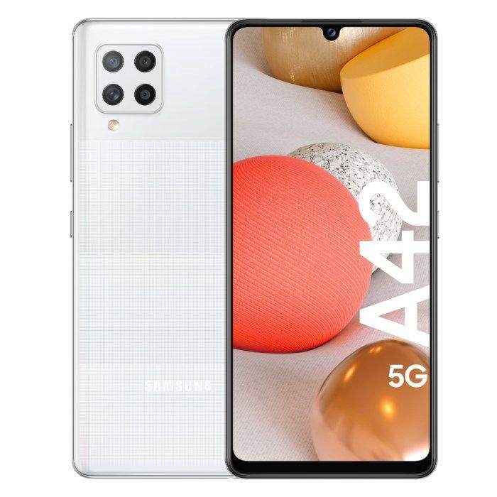 Samsung Galaxy A42 5G Mobiltelefon 128 GB Vit