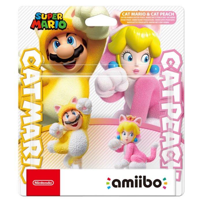 Nintendo Amiibo Cat Mario & Cat Peach