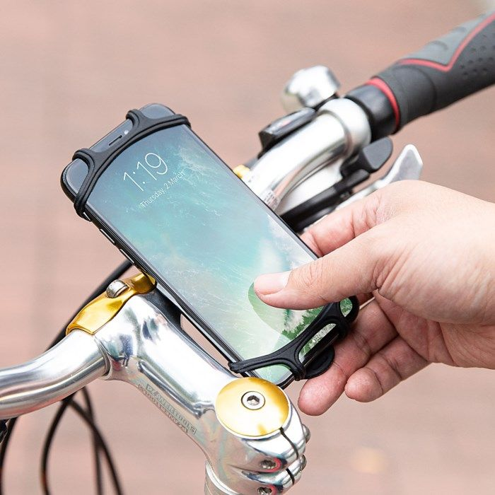 Linocell Mobilhållare i silikon för cykel