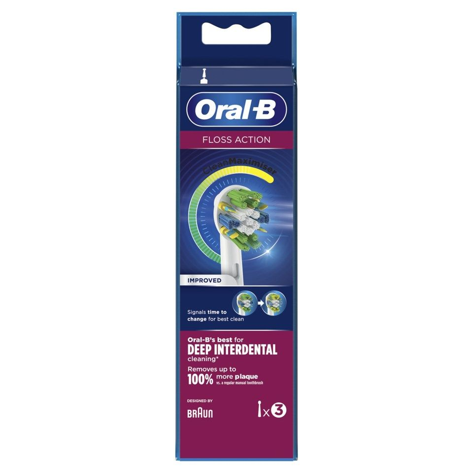 Oral-B Flossaction Tandborsthuvud 3-pack