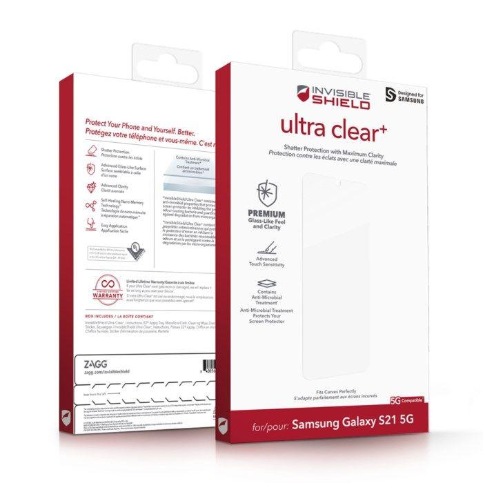Invisible Shield Ultra Clear+ Skärmskydd för Galaxy S21