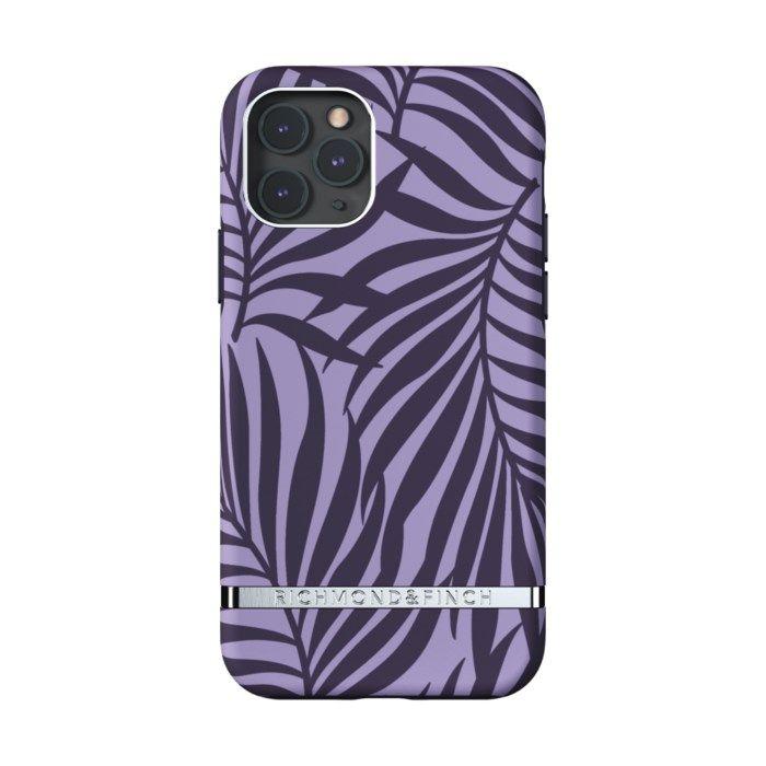 Richmond & Finch Purple Palm Mobilskal för iPhone 11 Pro