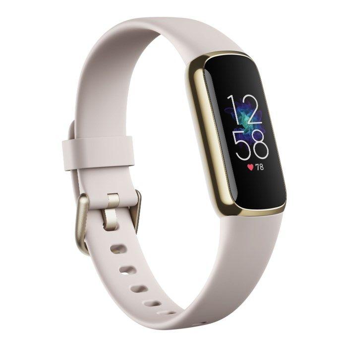 Fitbit Luxe Aktivitetsarmband Guld/Vit