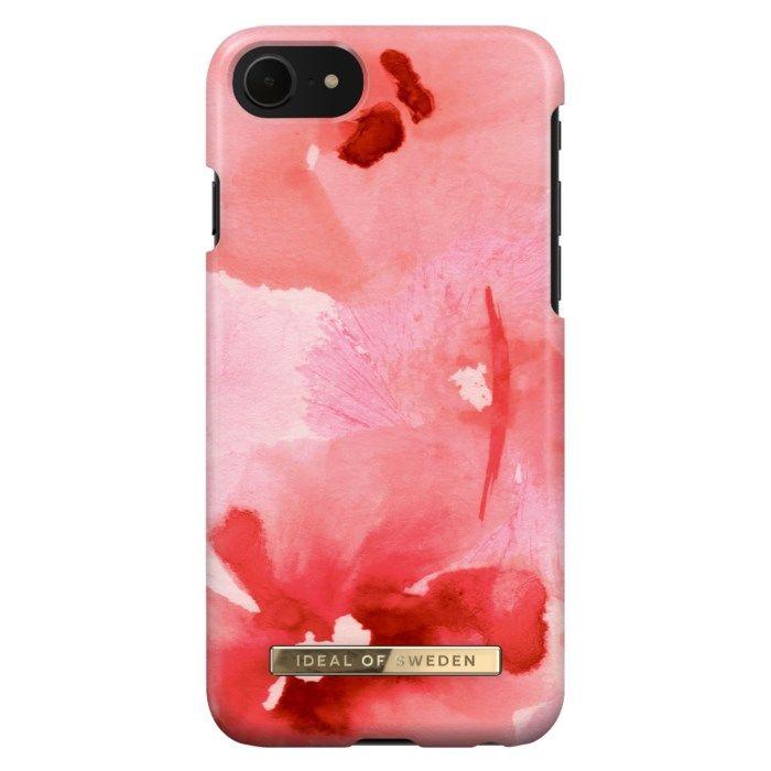 IDEAL OF SWEDEN Mobilskal för iPhone 6-8 och SE 2020 Coral Blush Floral