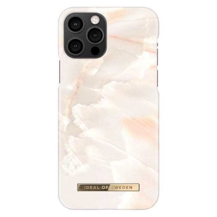 IDEAL OF SWEDEN Mobilskal för iPhone 12 och 12 Pro Rose Pearl Marble