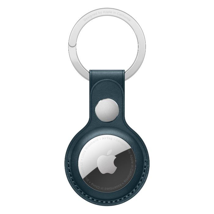 Apple AirTag-nyckelring i läder Blå