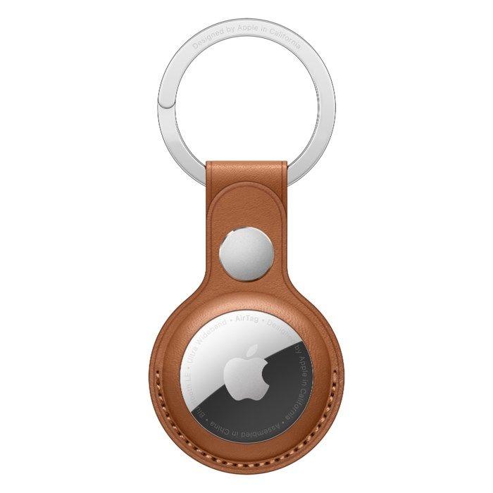 Apple AirTag-nyckelring i läder Sadelbrun