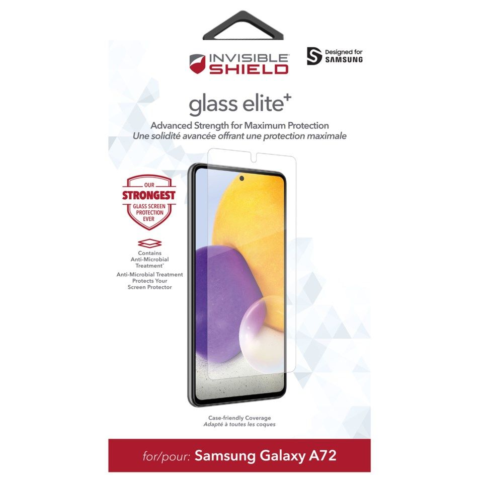Invisible Shield Glass Elite + Skärmskydd för Galaxy A72