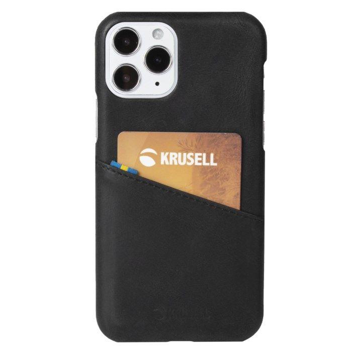 Krusell Plånboksskal för iPhone 12 och 12 Pro Svart
