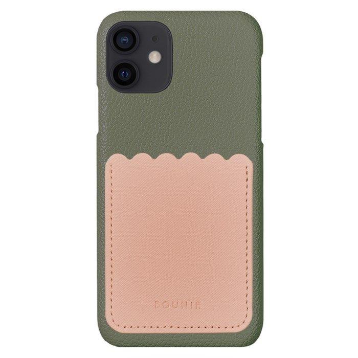 Bounir Skal för iPhone 12 Mini Khaki & Scallop Pink