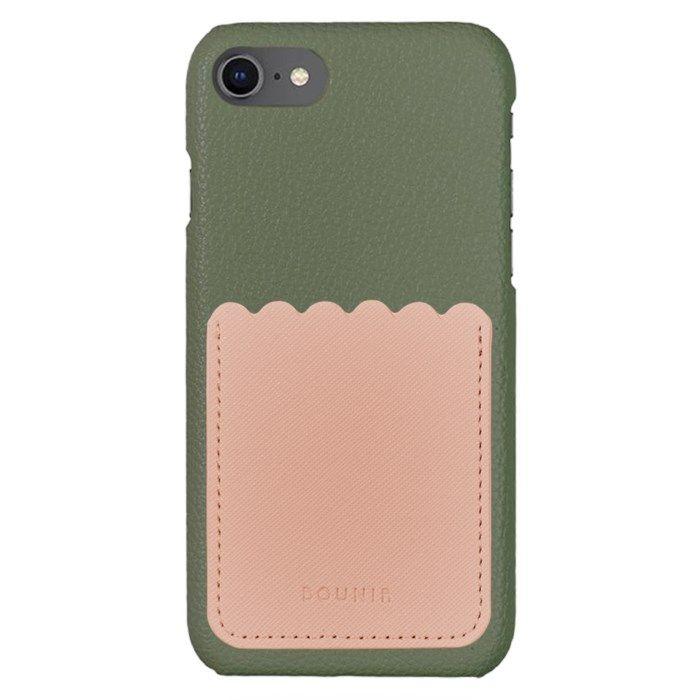 Bounir Skal för iPhone 7/8/SE Khaki & Scallop Pink