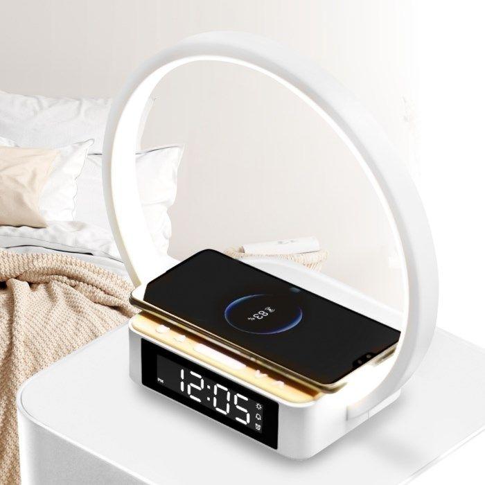 Rubicson Wake-up light Väckarklocka med trådlös laddning