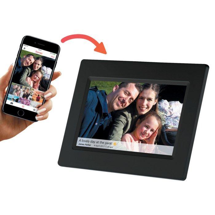 """Denver Frameo Digital fotoram 7"""" med wifi Svart"""