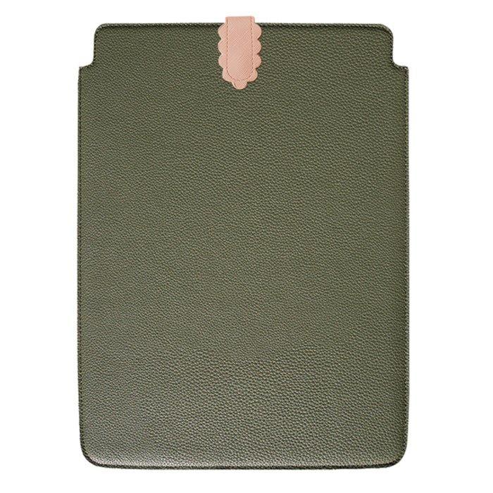 "Bounir Laptop-fodral 15/16"" Khaki & Pink Scallop"