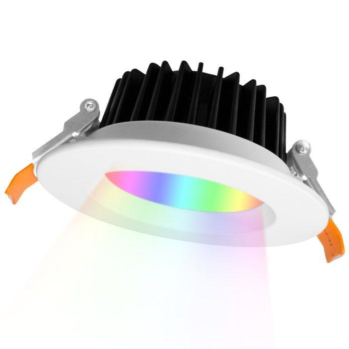 Gledopto Downlight RGB+CCT med Zigbee 9 W