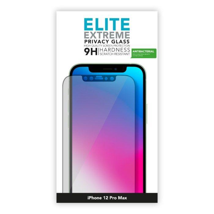 Linocell Elite Extreme Privacy Glass Skärmskydd för iPhone 12 Pro Max