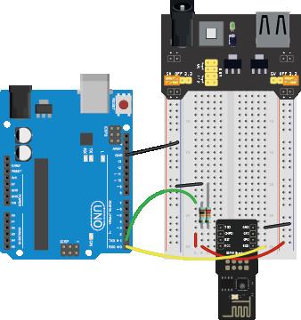 esp8266 Arduino hookup